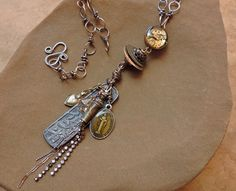 Mixed Media Talisman Necklace with Sacred by DesertTalismans