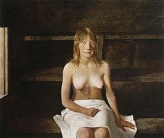 """Andrew Wyeth.  One of the most fascinating sets of his paintings are """"The Helga Pictures"""". Wyeth completed over 240 paintings and drawings of his neighbor's wife, Helga Testorf.  The unusual part is that neither Wyeth's wife nor Testorf's husband knew she was posing for the paintings.  She posed for him from 1971 to 1985, and Wyeth stored the art at a friend's home."""