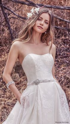 Maggie Bridal by Maggie Sottero This sweet and elegant ballgown features layers of Vega Organza. A strapless scoop neckline and sheer pockets complete the ethereal romance Sottero And Midgley Wedding Dresses, Designer Wedding Gowns, Gown Wedding, Essense Of Australia, Wedding Dress With Pockets, Gorgeous Wedding Dress, Culture, Bridal Dresses, Dresses Dresses
