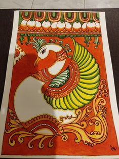 Saree Painting, Kerala Mural Painting, Indian Art Paintings, Mural Art, Murals, Indian Folk Art, Indian Style, Goal, Sketch