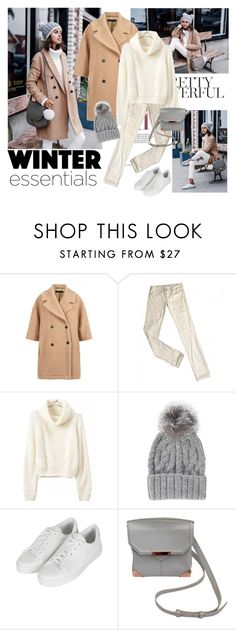 """""""Get the look"""" by polyandrea ❤ liked on Polyvore featuring Jaeger, Levi's, Eugenia Kim, Topshop and Alexander Wang"""