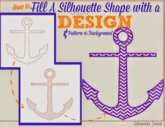 Silhouette School: How to Fill a Silhouette Design or Text With a Cuttable Background (Free Studio Cut File)