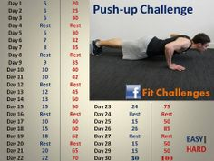 30 day challenge pushups