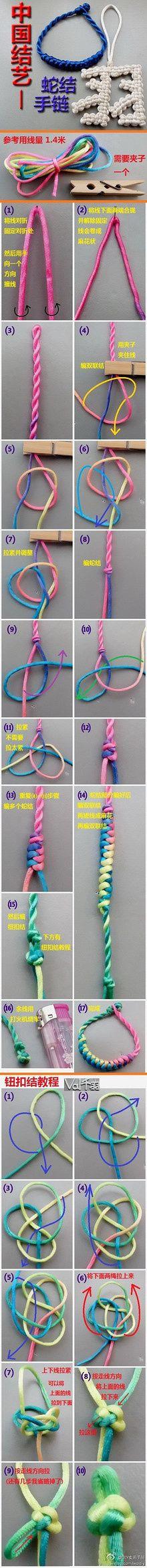 DIY Snake Knot Style Bracelet
