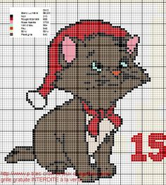 Here is the Disney version of the Advent calendar, you will see that for some . Xmas Cross Stitch, Cross Stitch Bookmarks, Cross Stitch Cards, Cross Stitching, Unicorn Cross Stitch Pattern, Cross Stitch Patterns, Disney Christmas, Christmas Cross, Cross Stitch Numbers