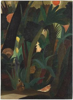 Curt Echtermeyer 1896-1971 Jungle, 1924 Oil on wood