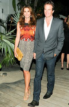 Cindy Crawford and hubby Rande Gerber make a stunning pair at the Louis Vuitton Design dinner at Raleigh Hotel.