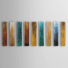 Hand Painted Oil Painting Abstract Panels with Stretched Frame Set of 9 1311-AB1185 – AUD $ 236.11
