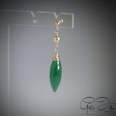 Green Onyx Drops Earrings