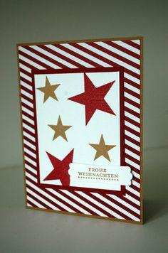 stampin up simply stars weihnachten