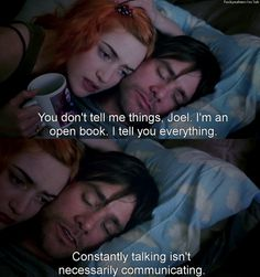 eternal sunshine of the spotless mind open book Movies Showing, Movies And Tv Shows, Love Movie, Movie Tv, Movie Club, Eternal Sunshine, Quotes About Everything, Movie Lines, Open Book