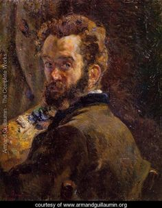 Self Portrait With Easel - Armand Guillaumin,Guillaumin exhibited at the Salon des Refusés in 1863. He participated in six of the eight Impressionist exhibitions: 1874, 1877, 1880, 1881, 1882 and 1886. In 1886 he became a friend of Vincent van Gogh whose brother, Theo sold some of his works. He was finally able to quit his government job and concentrate on painting full-time in 1891, when he won 100,000 francs in the state lottery.