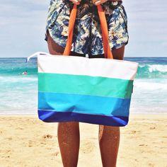 Hayden Reis X Goldfish Kiss sailcloth tote.