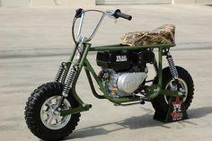 Taco trail Mini Motorbike, Scooter Motorcycle, Motorcycle Design, Mini Bike, Go Kart Parts, Scooter Custom, Moto Car, Motorised Bike, Pocket Bike