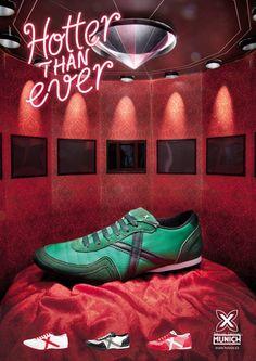 Genial dirección de arte de la agencia Pavlov para las zapatillas Munich