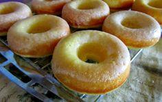 Mennonite Girls Can Cook: Baked Lemon Cake Donuts - 2 tbsp. lemon pudding, 1 c flour, oil, eggs, lemon juice and buttermilk.