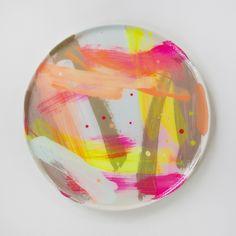 Image of Hand Painted Ceramic Platter 7 Summer 2016 Series