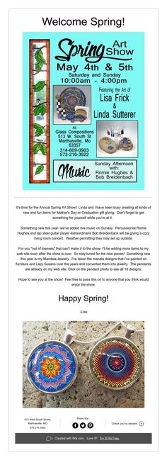 Welcome Spring! Lap Steel Guitar, Mandala Jewelry, Bohemian House, Welcome Spring, Spring Art, Happy Spring