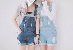 These overalls have never been worn (too short for my own preference). They do not have tags though. Really, cute and comfortable short overalls! Perfect for this upcoming summer ☀️☀️☀️ Shorts Cute Asian Fashion, Korean Street Fashion, Japanese Fashion, Warm Outfits, Cute Outfits, Denim Fashion, Womens Fashion, Fashion Tips, Fashion Outfits