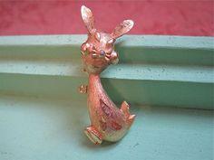 Midcentury Rabbit  Brooch Signed Figural Modern by SpectrumVintage, $8.00