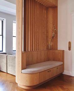 Foyer Design, Home Room Design, Home Interior Design, Living Room Designs, Design Kitchen, Exterior Design, Divider Design, Modern Exterior, Kitchen Interior