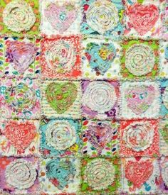 Summer in the Park Rag Quilt - Pattern on Craftsy- I want to try making a quilt one of these days.  Love this fun pattern!