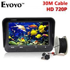 Eyoyo 30m 720P Professional Underwater Ice Fishing Camera Night Vision Fish Finder 6 Infrared LED 4.3 inch LCD Monitor (32597688048)  SEE MORE  #SuperDeals