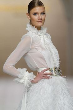 Introducing the Pronovias 2015 Bridal Collection Bella Bridal, Valentino, Bridal Gowns, Wedding Dresses, Sheer Lace Top, Pret A Porter Feminin, Wedding Pinterest, Lauren, Haute Couture Fashion
