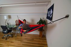 ENO - Eagles Nest Outfitters Indoor Hanging Kit, Take Your Hammock Inside Hammock In Bedroom, Eno Hammock, Indoor Hammock, Hammock Stand, Camping Hammock, Hammock Ideas, Backyard Hammock, Hammock Chair, Hammock Accessories