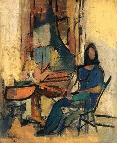 """Elizabeth (Portrait of the artist's wife)"", by Franz Kline"