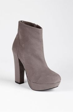 Sole Society 'Josslyn' Platform Bootie (Online Exclusive) available at #Nordstrom    size 7.5 in light gray or navy