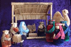 Buri Sugar Palm Nativity - Fair Trade from the Philippines - out of stock