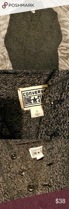 Converse Cozy Grey Men's Sweater Converse Cozy Grey Men's Sweater. Converse Sweaters V-Neck