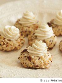 hazelnut thumbprint cookies with white chocolate ganache filling
