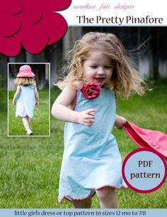 The Pretty Pinafore one piece PDF sewing by carolinafairdesigns