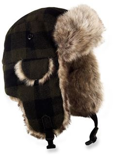 When the snow piles up and wind blows in, the Dorfman Pacific Plaid Trooper hat comes to the rescue to keep you warm and happy. Trooper Hat, Aviator Hat, Beard Lover, Hats For Men, Hat Men, Winter Accessories, Cold Weather, Black Hair, Winter Hats