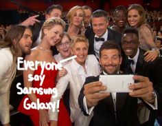 ellen samsung galaxy phone selfie abc doodle