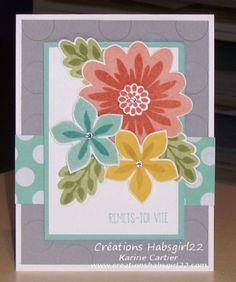 Stampin' Up! Flower Patch, Flower Fair framelits, photopolymer