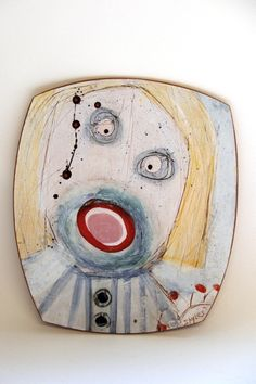 'Some days are just like that' Face plate - © Linda Styles Ceramics 2006