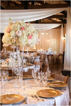 Beautiful Pink And Gold Wedding Colors Create The Perfect Decor Plus That Fl Arrangement Is To For Tall Flowers Definitely