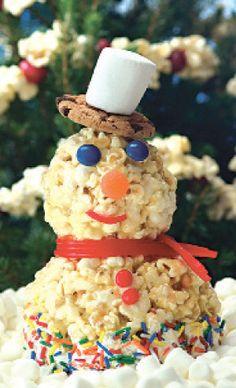 Jolly Time Popcorn Snowman Recipe