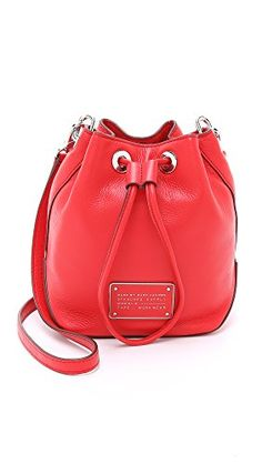 Marc by Marc Jacobs Women's New Too Hot to Handle Drawstring Bucket Bag, Cambridge Red, One Size *** You can get additional details at the image link.