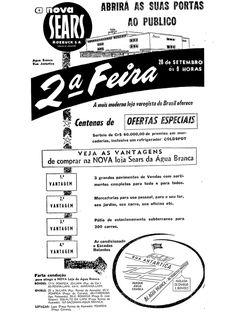 Anúncio de inauguração da Sears Água Branca