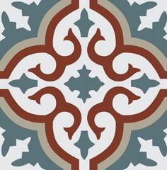 Spanish traditional concrete tiles