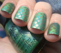 Nubar Reclaim, Claire's 14 Karats gold polish and Bundle Monster plate BM19 for the polka dots.