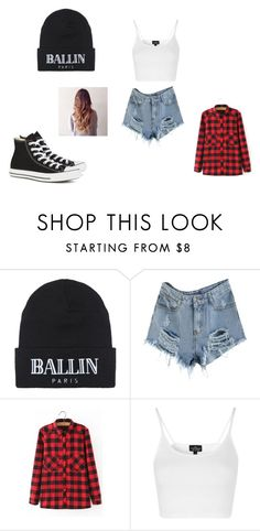 """""""me"""" by jaevette ❤ liked on Polyvore featuring Brian Lichtenberg, WithChic, Topshop and Converse"""