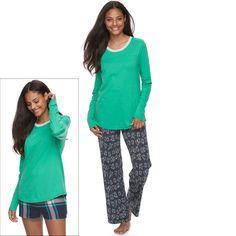 Juniors' SO® Pajamas: Knit Pants, Shorts & Top 3-Piece PJ Set, Teens, Size: Xs Short, Med Grey