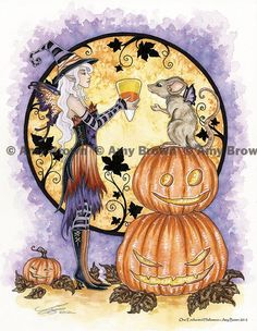 Fairy Art Artist Amy Brown: The Official Online Gallery. Fantasy Art, Faery Art, Dragons, and Magical Things Await. Halloween Fairy, Halloween Rocks, Fall Halloween, Happy Halloween, Halloween Artwork, Halloween Witches, Halloween Prints, Halloween Ideas, Dragons