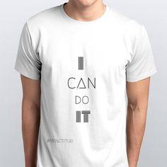 i  can do it #Mractitud Playeras WhiteMan #MrActitudCamisetas lo puedo hacer