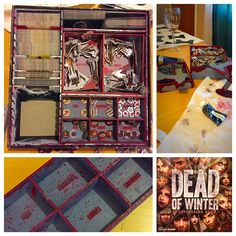 Well I finally finished painting my #DeadOfWinter box insert. Thank you @tbt_gaming!